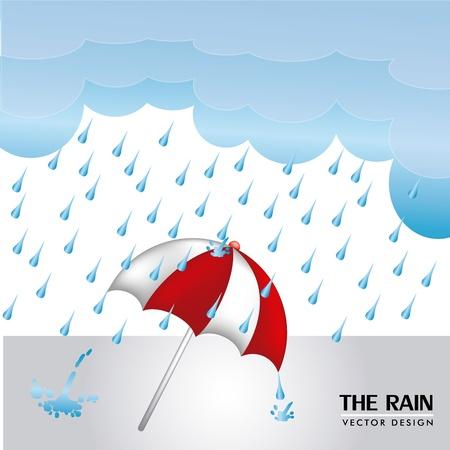 wather: rain design over sky background vector illustration  Illustration