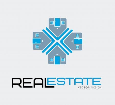 real estate design over white background vector illustration  Stock Vector - 20500198