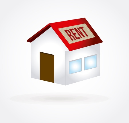 rent house over white background vector illustration Stock Vector - 20500305