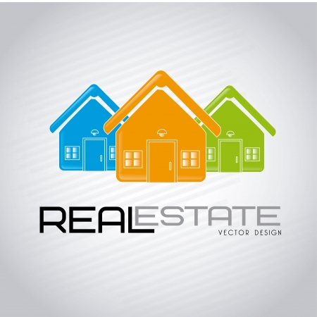 real estate design over gray background vector illustration Stock Vector - 20500656