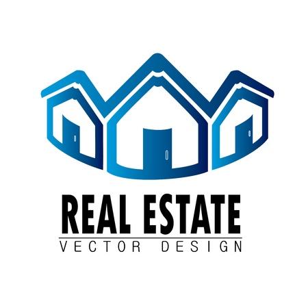 real estate design over white background vector illustration Stock Vector - 20500261
