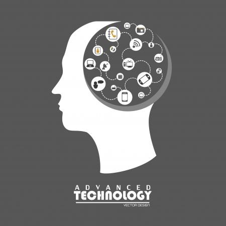 Tecnología avanzada sobre fondo gris ilustración vectorial Foto de archivo - 20500038