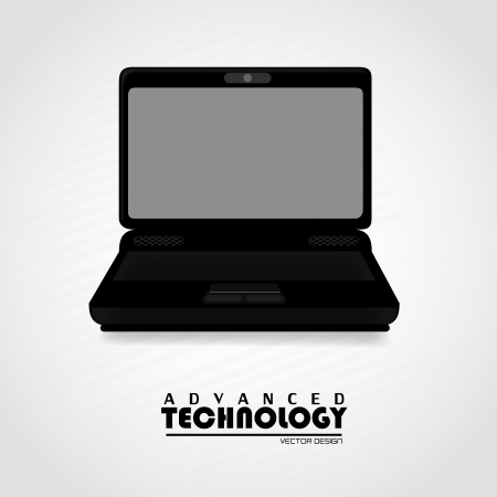advanced technology: advanced technology over gray background vector illustration