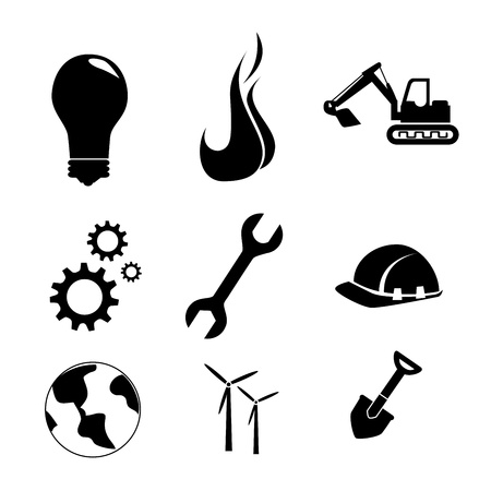 work icons over white background vector illustration  Vector