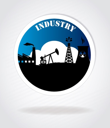 industry seal over gray background vector illustration Stock Vector - 20500558