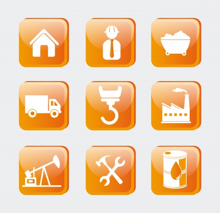 energy icons over white background vector illustration Stock Vector - 20500169