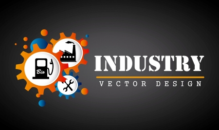 industry design over black background  vector illustration Stock Vector - 20499821
