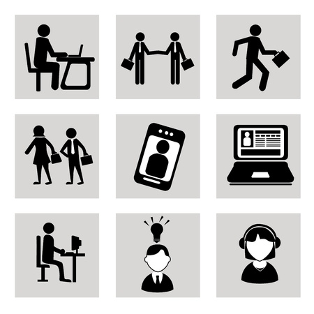 computer art: business icons over white background vector illustration