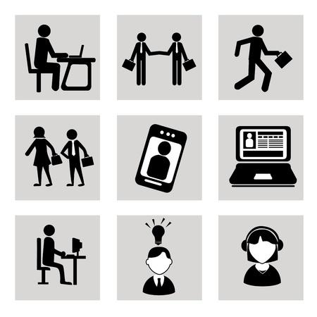 Iconos de negocios sobre fondo blanco ilustración vectorial Foto de archivo - 20500156