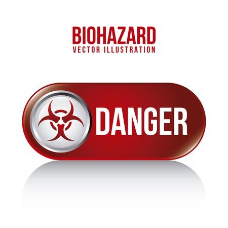 symbol vigilance: biohazard design over white background vector illustration  Illustration