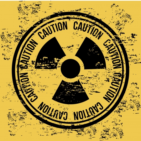 caution seal over vintage background Stock Vector - 20543257