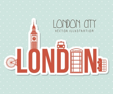 london city over dotted background vector illustration  Vector