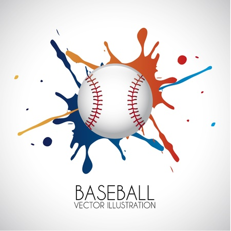 baseball design over gray background vector illustration  Vector