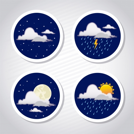 weather coins over gray background vector illustration  Vector