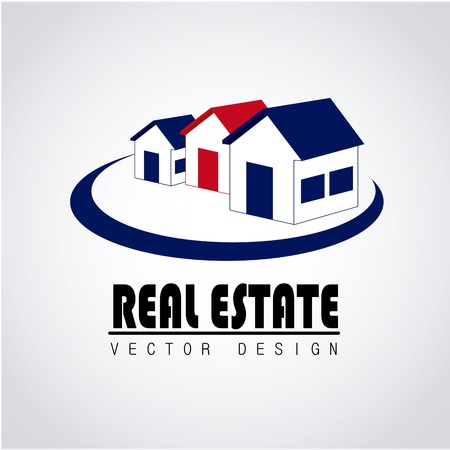 real estate design over white background vector illustration Stock Vector - 20500357