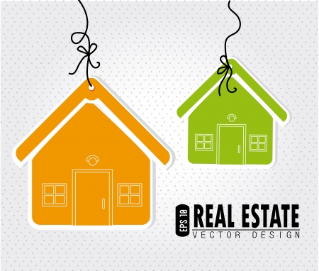 real estate eps10 over gray background  vector illustration Stock Vector - 20500480
