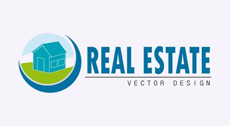 real estate design over white background vector illustration  Vector