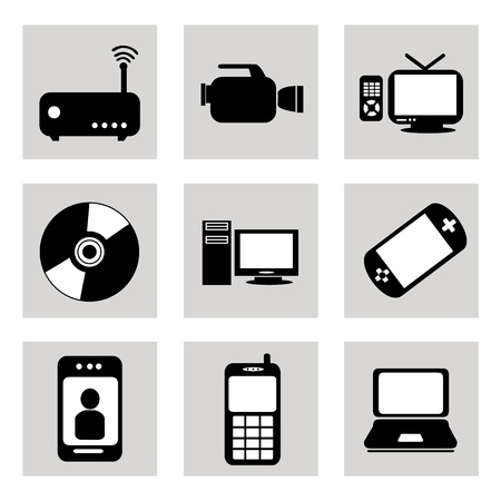 technological icons over white background vector illustration Stock Vector - 20499832