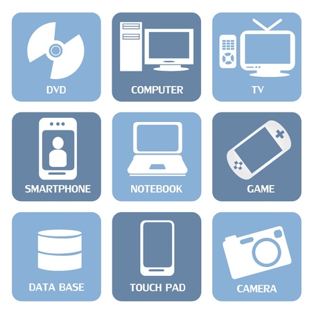 technological icons over white background vector illustration Stock Vector - 20500014