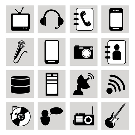 technological icons over white background vector illustration  Vector