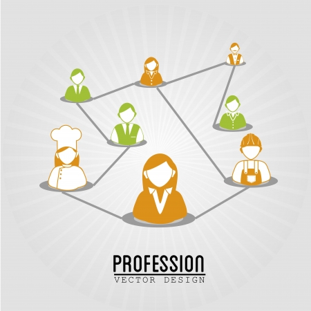 profession design over blue background vector illustration  Vector