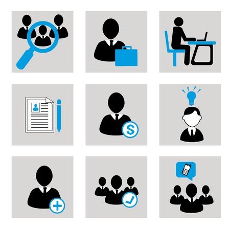 iconos de negocios sobre fondo gris ilustración vectorial