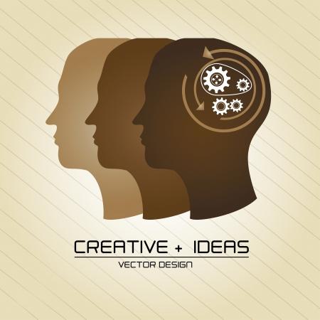 creative ideas over vintage background vector illustration  Vector