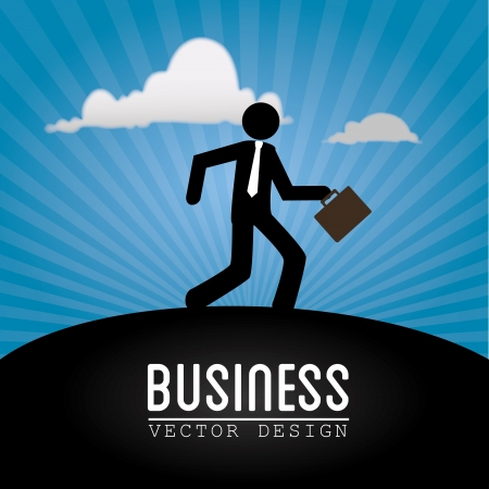 businessman design over blue background vector illustartion  Vector