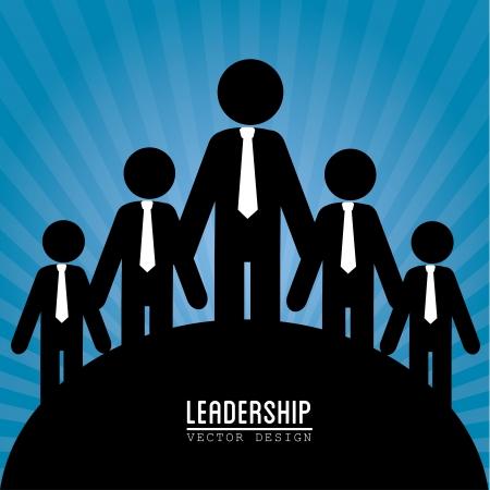 team worker: leadership design over blue background vector illustration