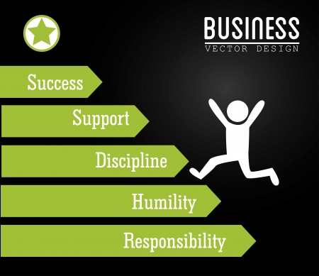 humility: business design over black background vector illustration