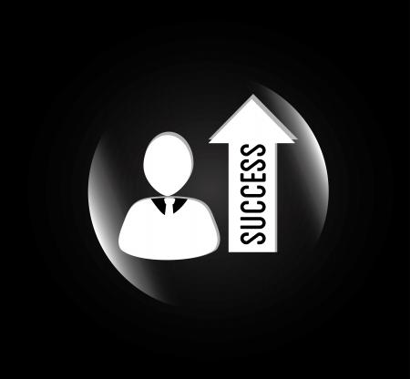 success design over black background vector illustration Stock Vector - 20500034