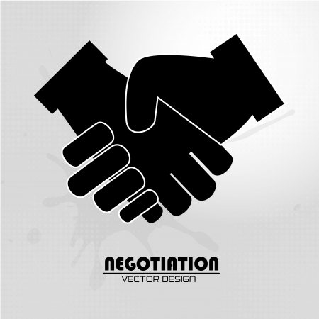 negotiation icon over gray background vector illustration Stock Vector - 20500554