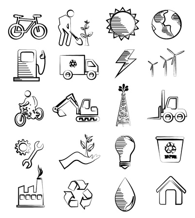 wather: eco and industry design over white background vector illustration