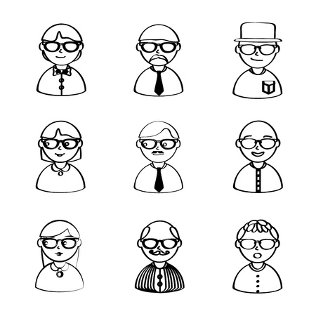 sir: people icons over white background vector illustration
