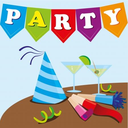 noise maker: party design over blue background vector illustration