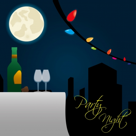 party night over sky background vector illustration  Vector