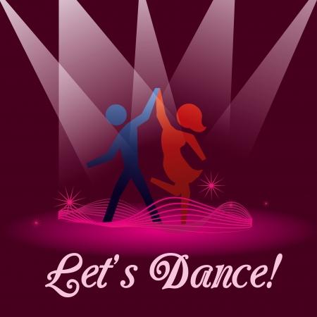 サルサ: 紫色の背景ベクトル イラスト ダンスすることができます