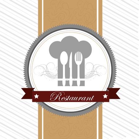 restaurant design over white background vector illustration   Vector