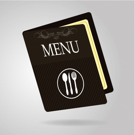 menu brochure over gray background vector illustration  Vector