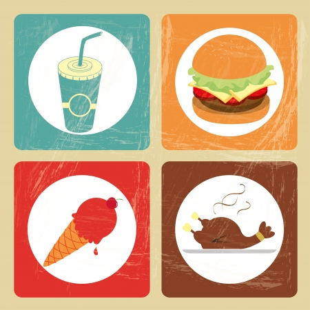 restaurant icons over vintage background vectro illustration Vector