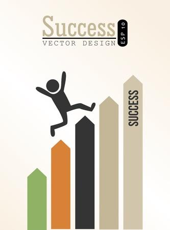 bussinesman: success design over beige background vector illustration  Illustration