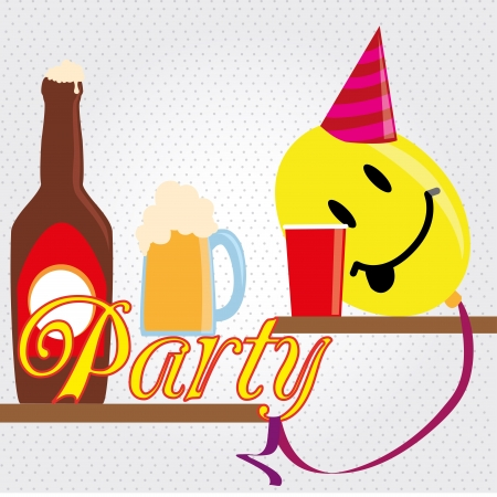 funy: party funy design over dotted background vector illustration