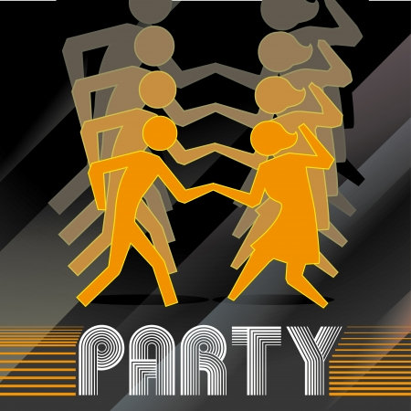 prom night: party design over black background vector illustration