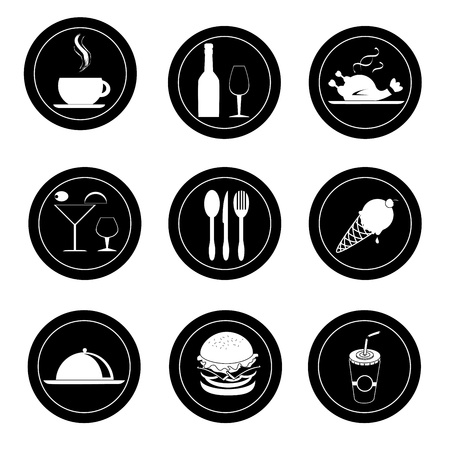 food and drinks sealss over white background vector illustration  Vector