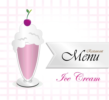 menu resturant over white background vector illustration  Vector