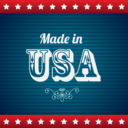 made in usa over blue background vector illustration  Vector