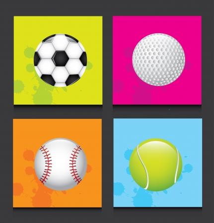 ballons de sport sur fond noir illustration vectorielle
