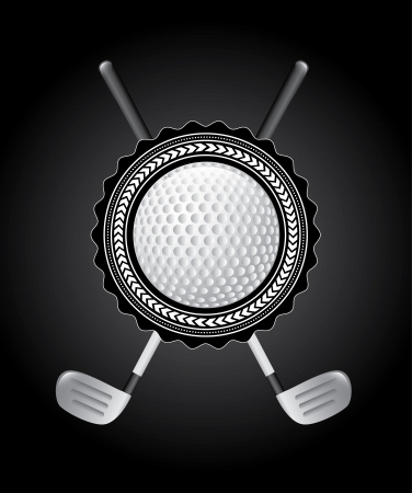 golf design over black background vector illustration  Vector