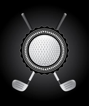 cartoon golf: golf design over black background vector illustration