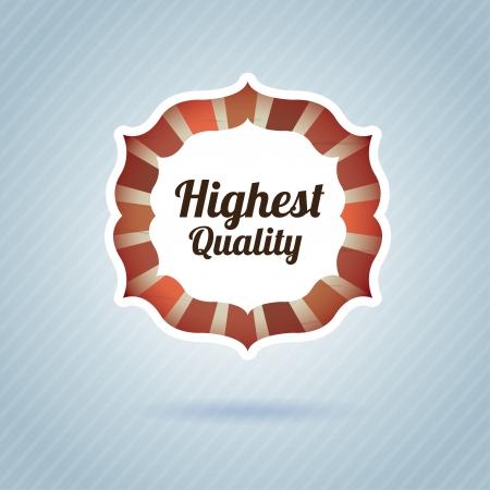 highest quality over blue background vector illustration  Vector